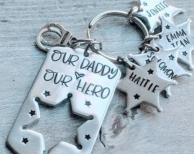 Sheriff dad. Sheriff's Department dad. Deputy. Our Daddy. Our Hero. Law enforcement gift. Sheriff badge. LEO parent.  Father's day.