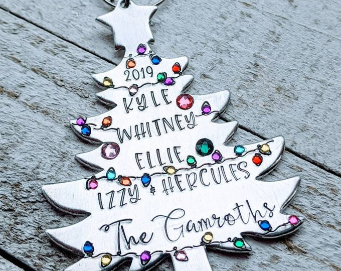 Birthstone Family Ornament Family Tree Ornament Family Names