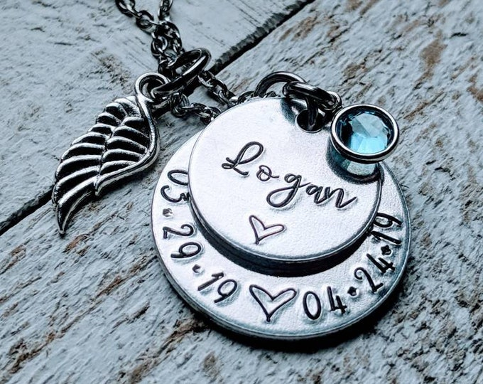 Child loss Necklace. Mothers Necklace. Baby Loss. Stillborn. Infant Death. Child loss. Miscarriage. Angel Baby.