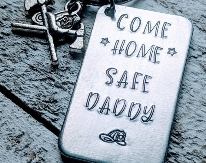 Fireman dad. Firefighter dad. Fire Department. Come home safe daddy. Father's day. EMT.