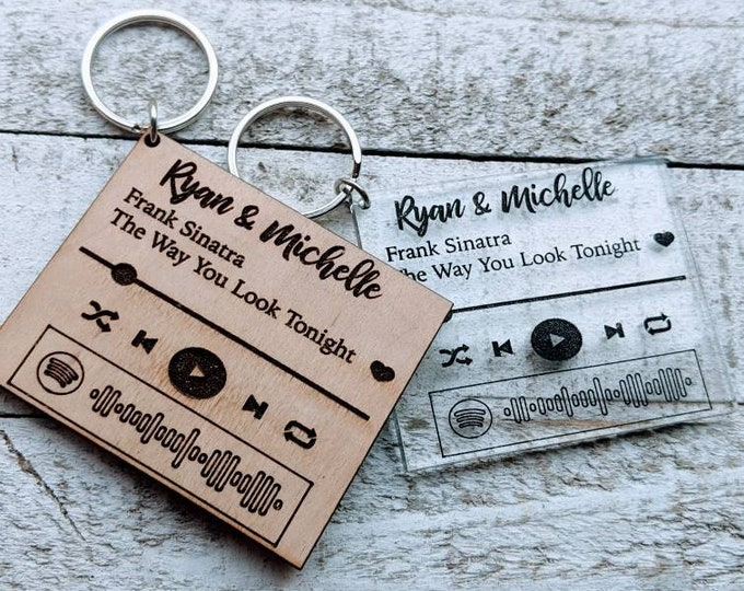 Couple Keychains. Spotify Keychain. Our Song. Anniversary gift.