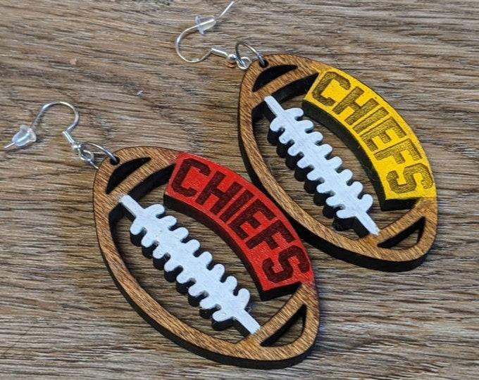 Football earrings  Laser cut. Laser earrings. Sports Jewelry. Football Mom.