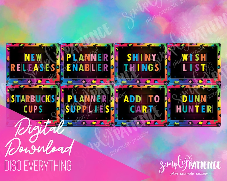 Digital and Printable DISO Everything Planner Stickers image 0