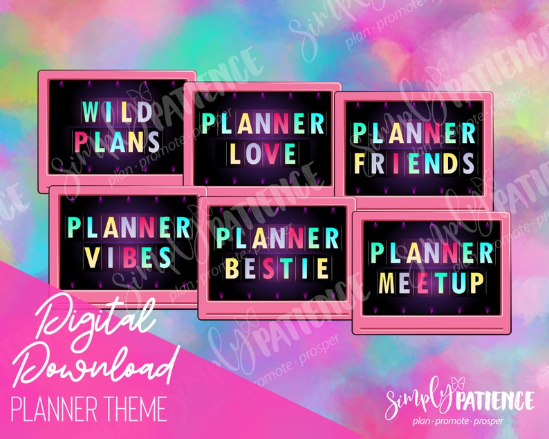 Digital and Printable Planner Theme Planner Stickers image 0