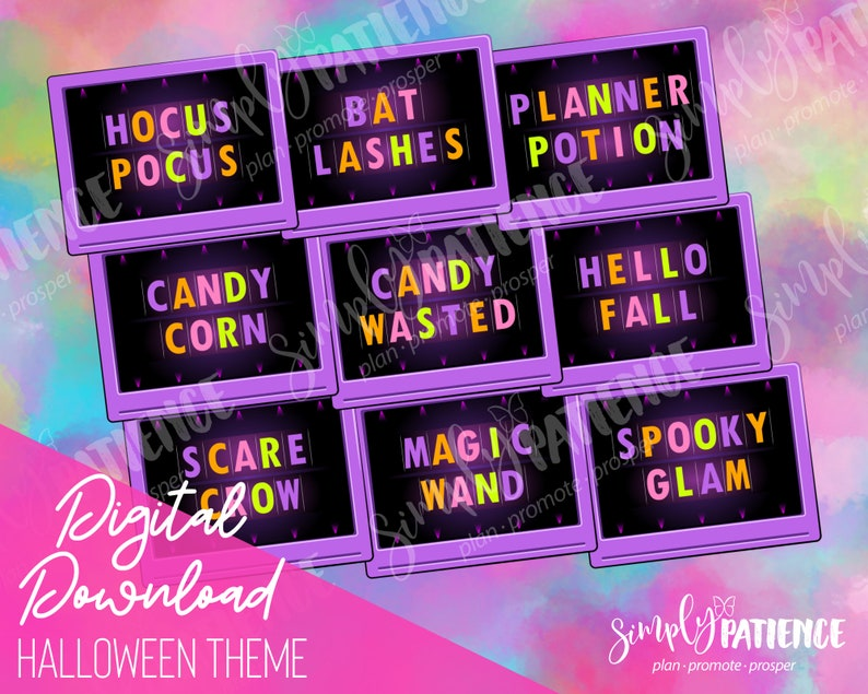 Digital and Printable Halloween Planner Stickers image 0