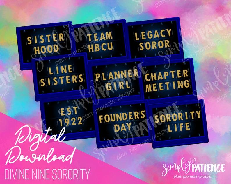 Digital and Printable SGR Divine Nine Sorority Planner image 0