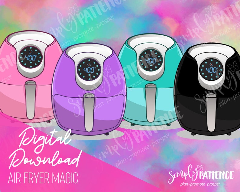 Digital and Printable Air Fryer Magic Planner Stickers image 0