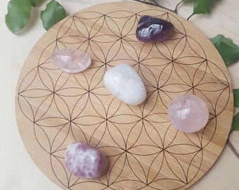 The Flower of Life Crystal Grid