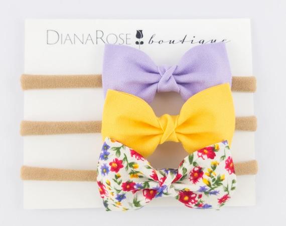 Summer Baby Headband Fabric Headband Hair Bow Nylon Headband  0a5238fa990