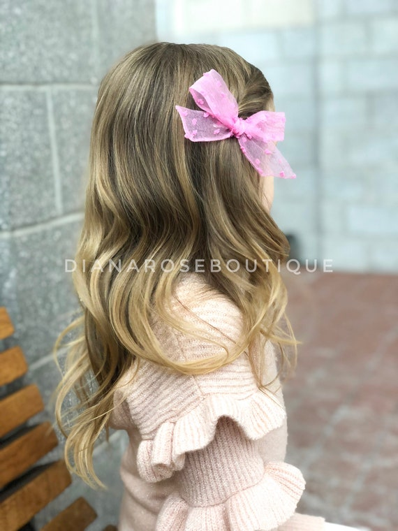 Leatherette Small Dainty Bow Baby Girl Delicate Headband Girl Hair Elastic Nylon Band