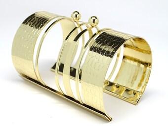 Gold Bangle for Women, Statement Bracelet, Cuff Bracelet, Bangle Bracelet, Wide Bracelet, Bohemian Bracelet, Bohemian Jewelry, Big Bracelet