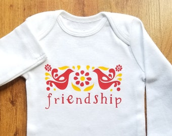 Pyrex Friendship Inspired Baby Outfit. Infant Bodysuit. Toddler Tee. Vintage Child.