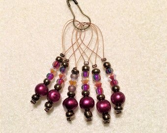 Jeweled Stitch Markers for your knitting