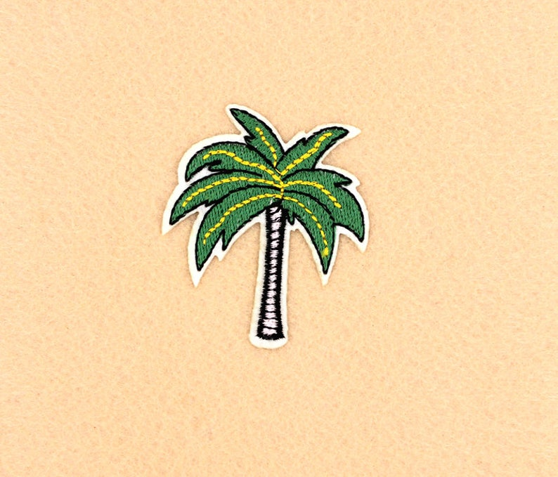 Coconut Tree Patch Iron on Patch DIY Patch Embroidered Patch Applique Embroidery 5.2x6cm