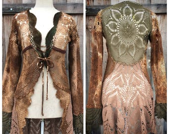 Patchwork  Lace Jacket Forest