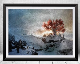 Game Of Thrones Print Painting Poster Weirwood Wall Art Decor