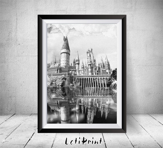 harry potter print wall art decor harry potter kinderzimmer etsy. Black Bedroom Furniture Sets. Home Design Ideas