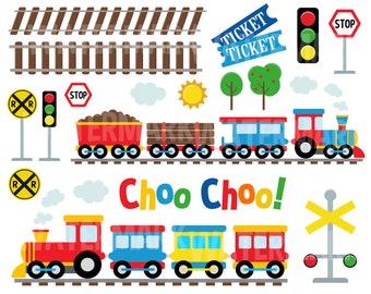 Train Clipart Etsy
