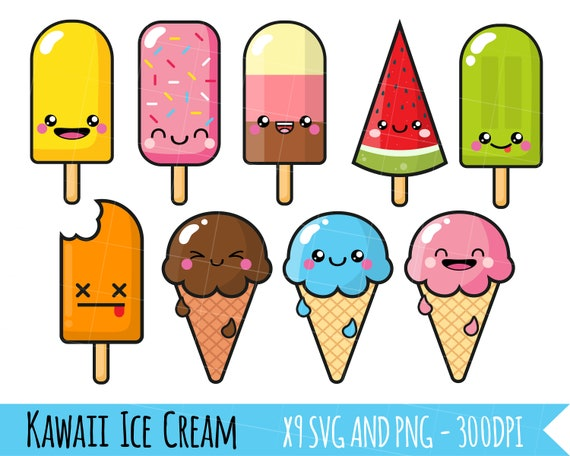 Ice Cream Clipart Cute ice-cream clipart kawaii ice cream ...
