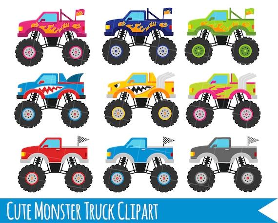 Monster Truck Clipart Monster Trucks Trucks Clipart Cute Etsy