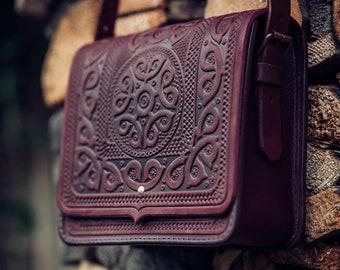 1481fbe3446 Purple Leather Shoulder Bag Crossbody Bag Leather Handbag Ethnic Bag  Messenger Bag Ladies Handbag Woman Handbag man bag Unisex Cross-body