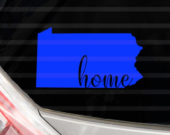 Custom Pennsylvania Home Vinyl Decal Pennsylvania State Yeti Decal Water Bottle Sticker Tumbler Decal Sticker Label Car Decal Phone Case
