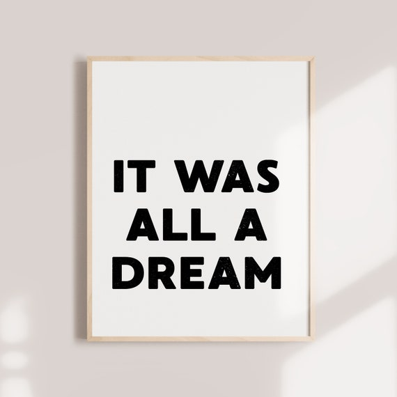 Rap Printable Rap Lyrics It Was All A Dream Biggie Smalls Etsy
