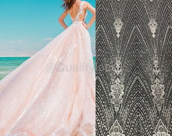 add84ff0c5f8f 2019 Newest wedding lace fabric sequins embroidery lace fabric bridal lace  fabric for gown dress