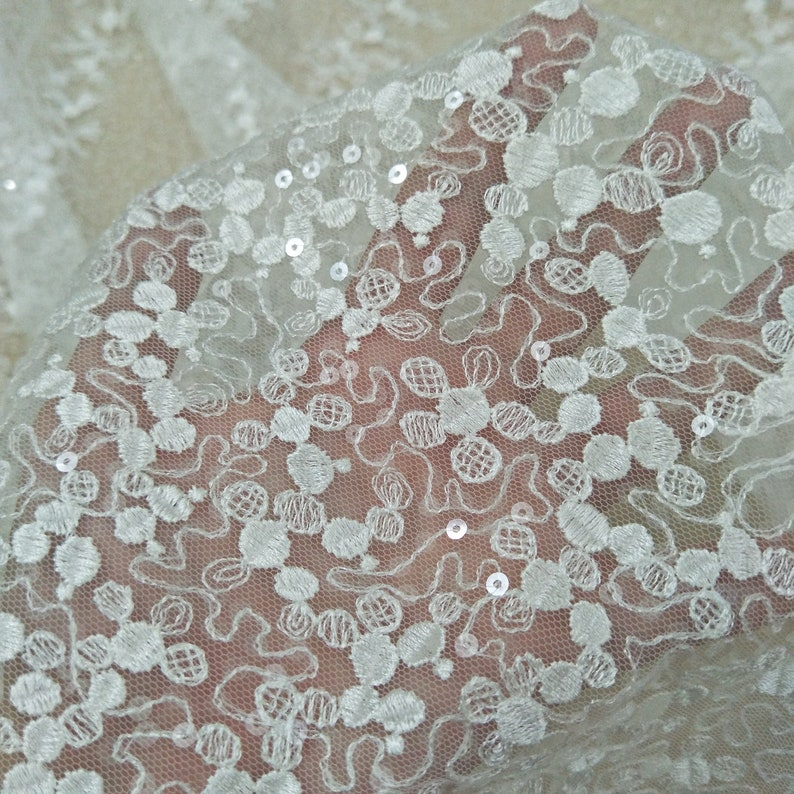 d7a808573e 2019 New collection sequins lace fabric shining lace embroidery lace fabric  130cm width worldwide shiping