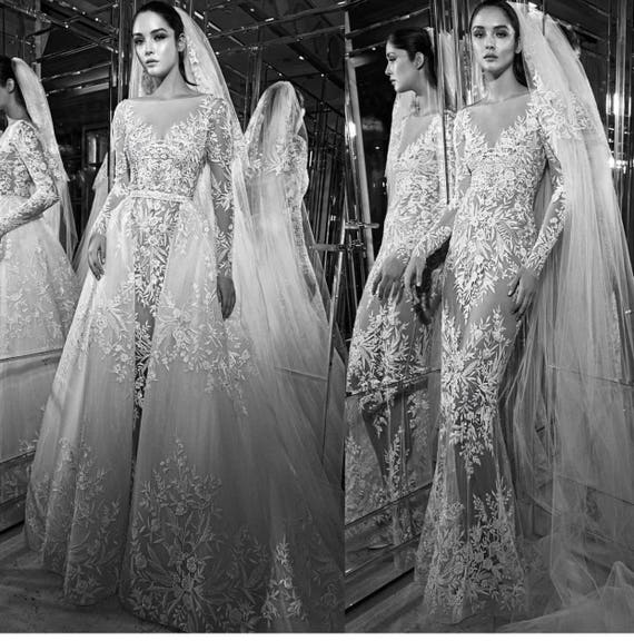 2017 fashion wedding dree lace zuhair murad french lace fabric   Etsy