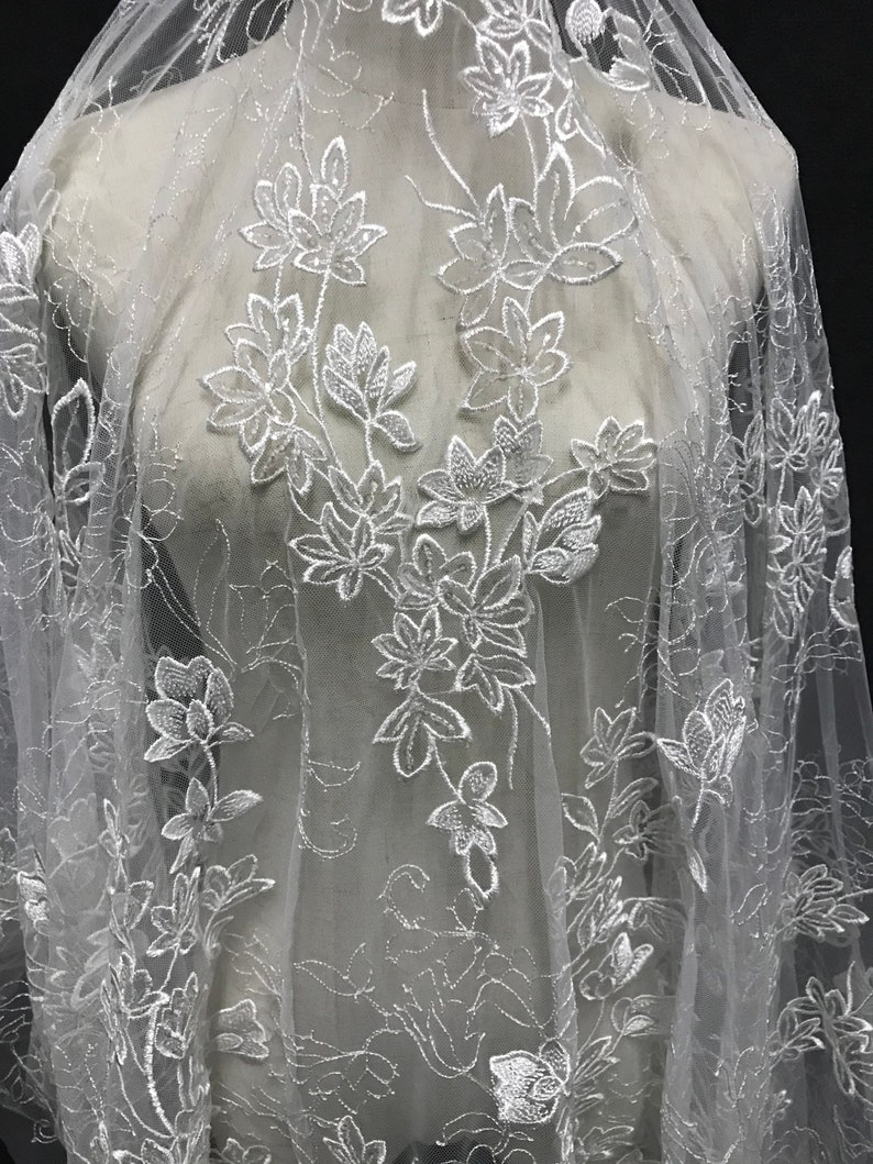 b20eee715d 2018 New collection wedding dress fabric sequins lace 130cm width Rayon  lace for gown dress
