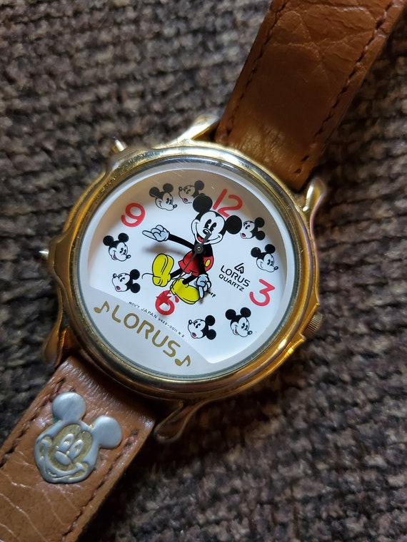 Vintage Musical Mickey Mouse Watch