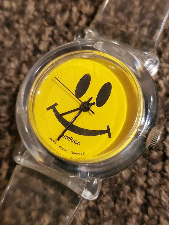 Vintage Armitron Smiley Face Watch