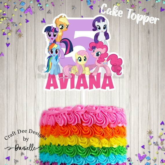 My Little Pony Cake Topper Cupcake Toppers Etsy