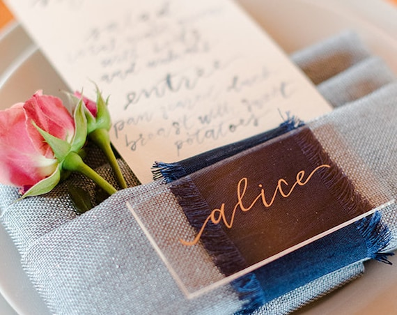 Rectangle Acrylic Place Cards