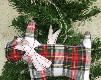 tartan scottie dog decorationfabric scottie dogscottie dogscottie dog christmas decorationchristmas decorationhandmade decoration - Scottie Dog Christmas Decorations