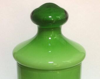 Mid-Century Empoli Lidded Cased Glass Jar