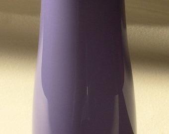 Mid-Century Scandinavian(?) Purple Cased-Glass Vase