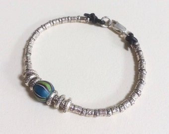 Sterling Silver and Trade Bead Bracelet