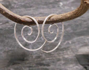 earrings silver 925, spiral earrings