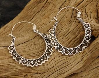 Creoles, earrings, 925s silver