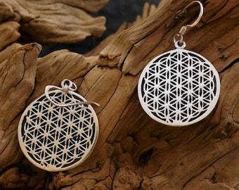 Lifeflower Earrings, 925 Silver