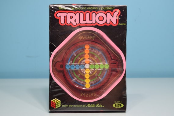 New! Vintage Trillion Brainteaser Puzzle Game 1982 Ideal - Rare Toy By The Makers Of Rubik's Cube