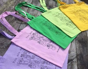 You Are Enough, Tote Bag #Mermasaur, Screenprint, Handpulled