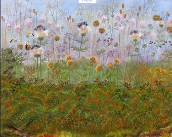 An  iPad painting of wild flowers