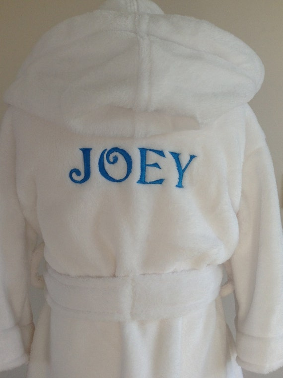 Personalised Dressing Gown name only for 0-6 mths to 9-10