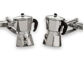 Italian Coffee-Maker Cufflinks