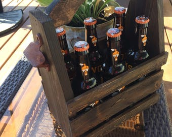 Rustic Beer Caddy great birthday gift !!