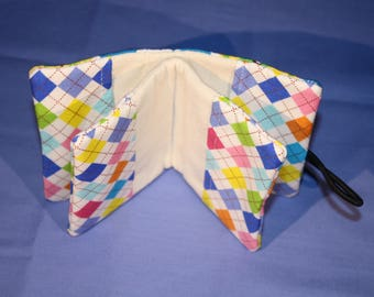 Fabric, six card holder
