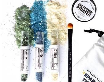 Eco Festival Face Glitter: PURE DOPE (incl. glitter glue & brush)